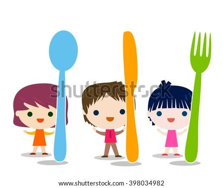 kids menu  - stock vector