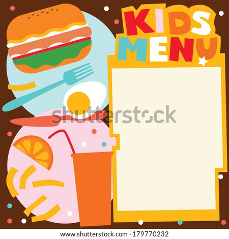 Kids Menu Template Stock Vector HD (Royalty Free) 179770232 ...