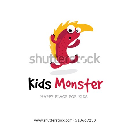 Monster Template | Kids Monster Logo Template Stock Vektorgrafik 513669238 Shutterstock