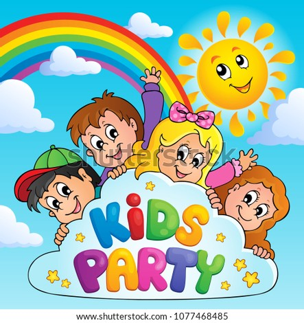 Kids party topic image 9 - eps10 vector illustration.