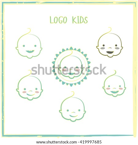 kids place vector logo template baby stock vector 419997685