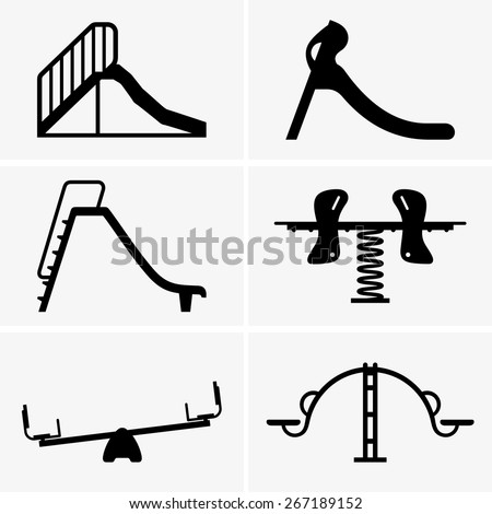 Kids playground - stock vector