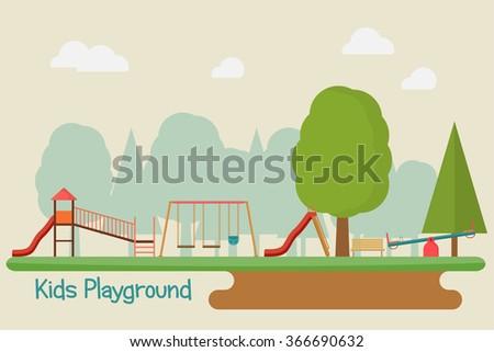 Kids playground - stock vector
