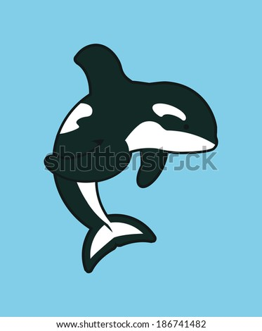 killer whale - stock vector