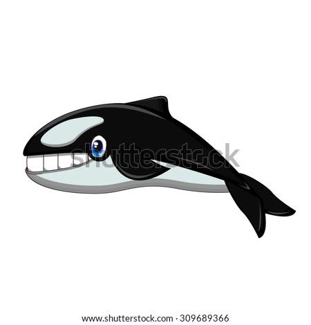 Killer Whale cartoon - stock vector