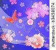 Kimono Design - Traditional Japanese Patterns - stock vector