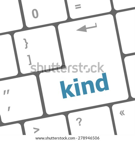 kind on computer keyboard key enter button vector