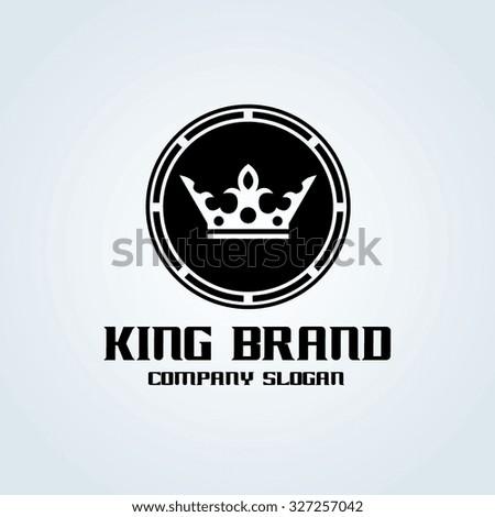 King Brand,Crown Logo,Vector Logo Template - stock vector