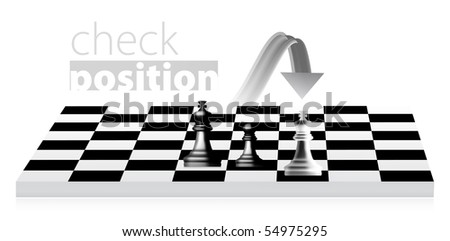 King chess illustration. Pawn becomes a queen - stock vector