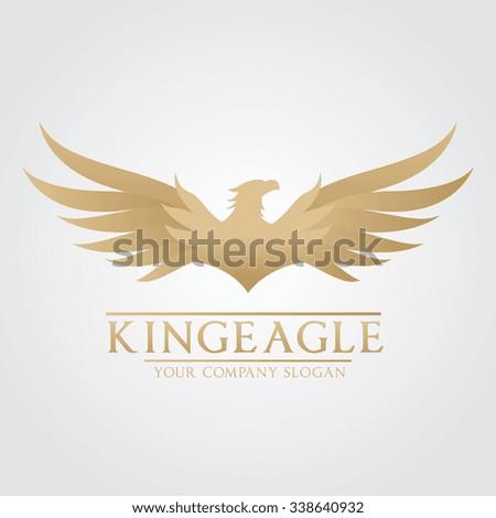 King Eagle Logo,Eagle logo,Phoenix logo,bird logo,vector logo template - stock vector