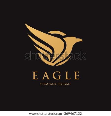 King Eagle logo,Eagle Logo,Vector logo template - stock vector