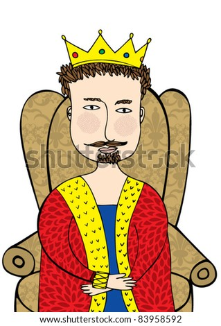 king illustration/vector - stock vector