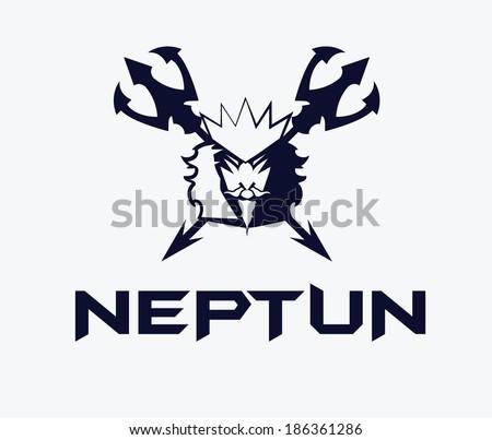King Neptune - stock vector