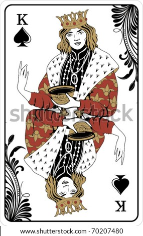 King of spades - playing card - stock vector