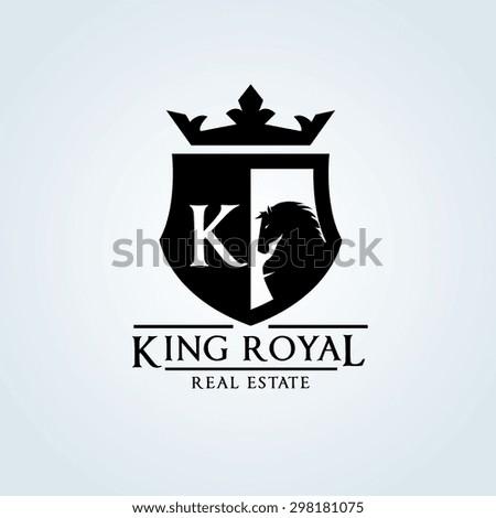 king royalcrownhorse logok letter logoluxury brandhotelfashiondesign stock vector 298181075. Black Bedroom Furniture Sets. Home Design Ideas