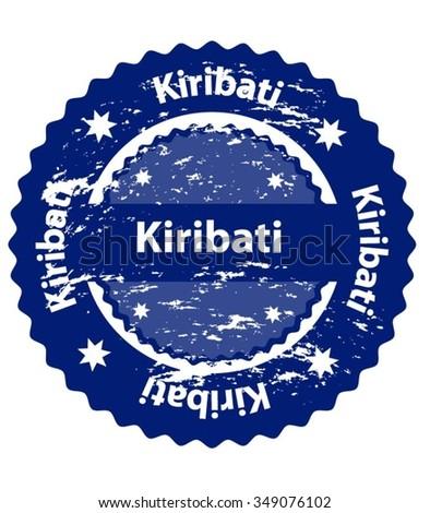 Kiribati Country Grunge Stamp - stock vector