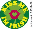 Kiss me i'm Irish icon vector drawing - stock photo