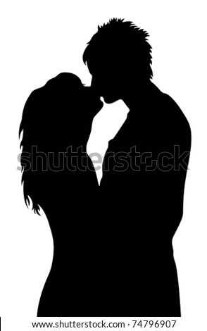 kissing - stock vector