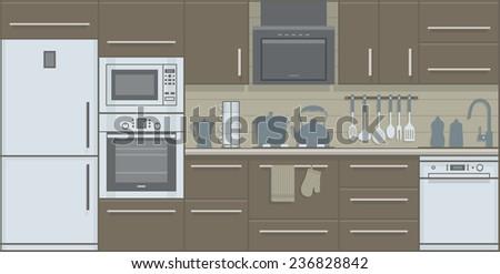 kitchen - stock vector