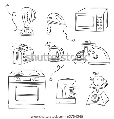 Kitchen appliance - stock vector
