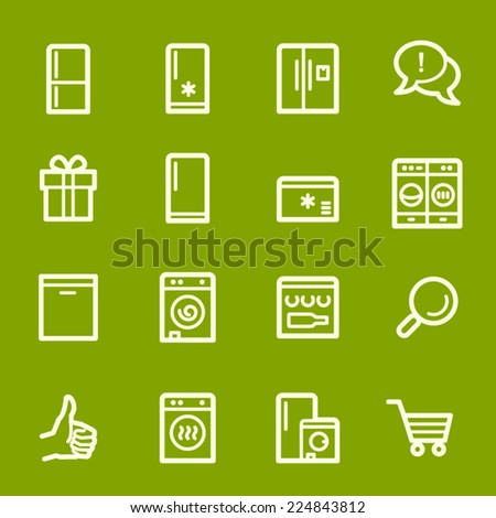 Kitchen Appliances Web Icons - stock vector