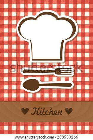kitchen card design. vector illustration - stock vector