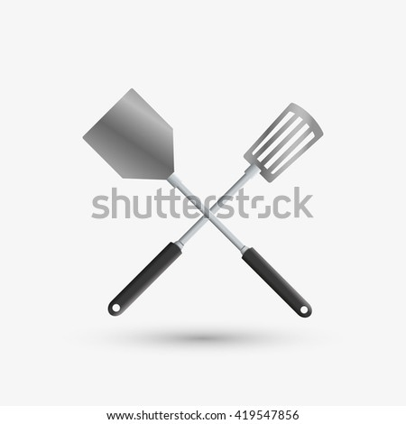 Kitchen Design. Supplies Icon. White Background, Vector Illustration Part 86
