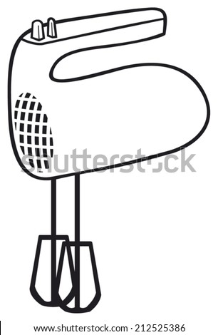 kitchen hand mixer (food mixer) - stock vector