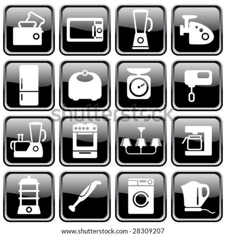 Kitchen home appliances - stock vector