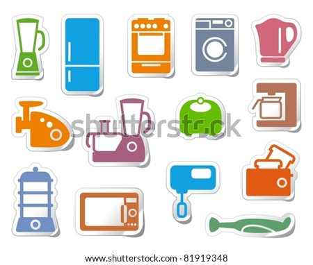 Kitchen home appliances - stock vector