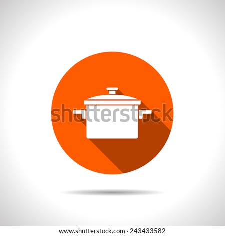 kitchen icon of pan - stock vector