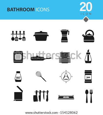 Kitchen Icon set for Winter - stock vector