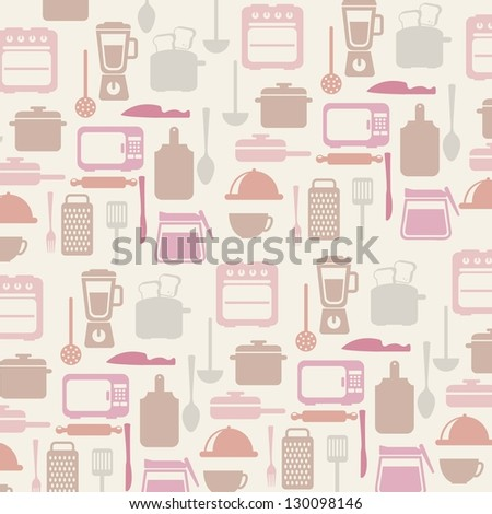 kitchen icons over white background. vector illustration - stock vector