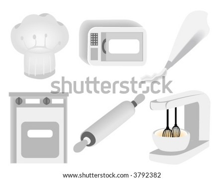 Kitchen Icons - Vector - stock vector