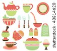 kitchen objects - stock vector