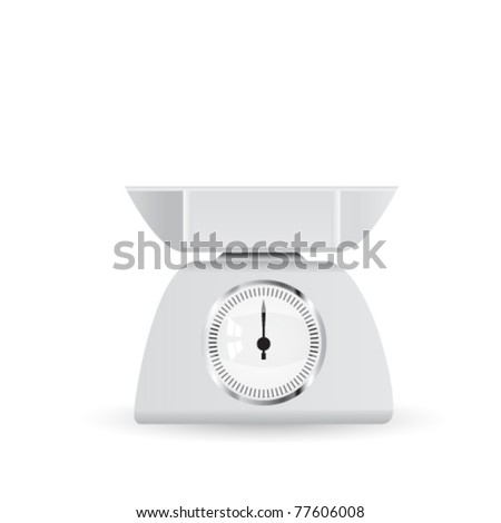 kitchen scale- eps10 - stock vector