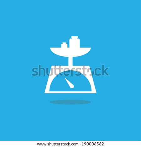 kitchen scale icon - stock vector