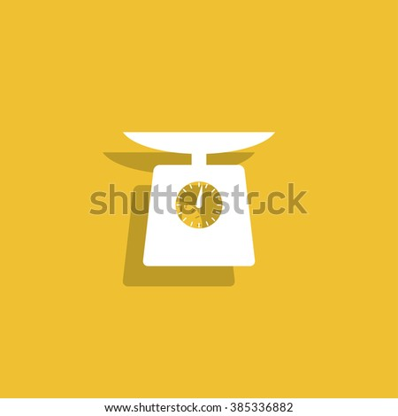 kitchen scale icon . Flat design style eps 10 - stock vector