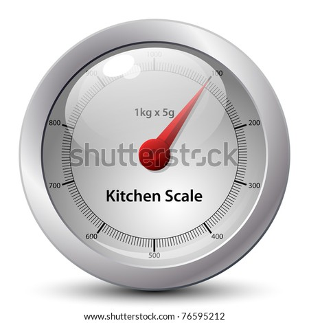 Kitchen Scale Icon. Vector - stock vector