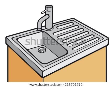 stainless steel sink stock vectors, images & vector art | shutterstock