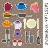 kitchen stickers - stock photo