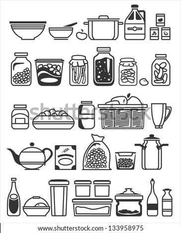 Kitchen Tools And Utensils kitchen tools utensils vector illustration stock vector 133958975
