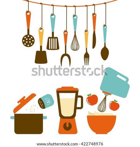 kitchen tools design  - stock vector