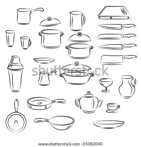 Kitchen utensil Collection - stock vector