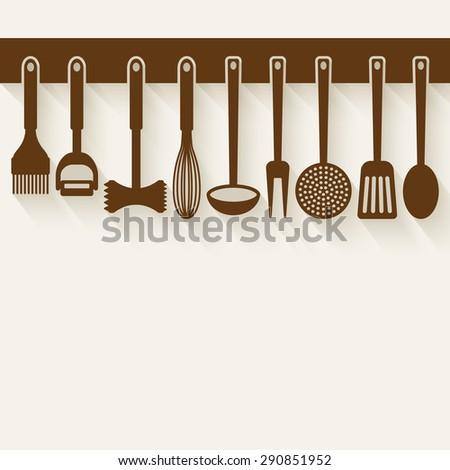 Kitchen Utensil Set   Vector Illustration. Eps 10   Stock Vector