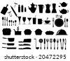 kitchen utensils vector - stock vector