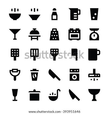 Kitchen Utensils Vector Icons 2 - stock vector