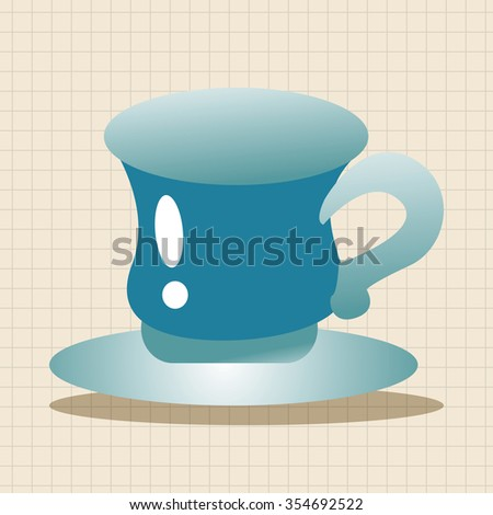 kitchenware cup theme elements - stock vector