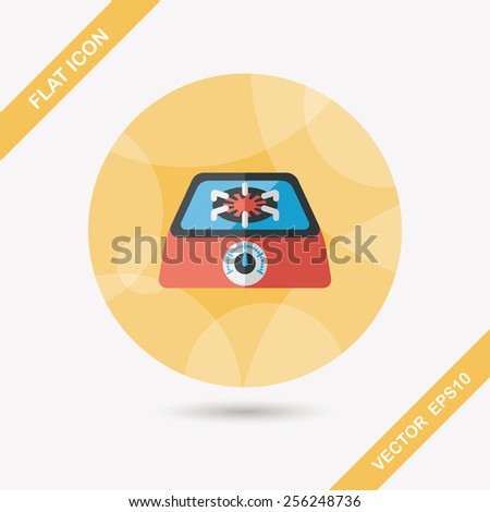 Kitchenware gas stove flat icon with long shadow,eps10 - stock vector
