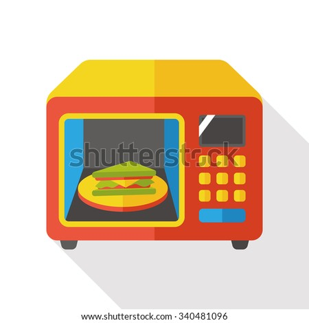 kitchenware microwave flat icon